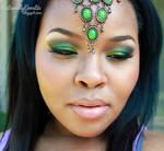 Green Arabic Makeup
