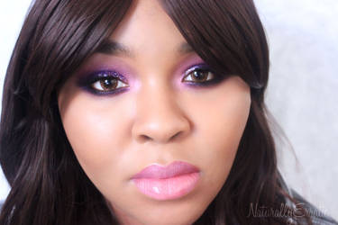 New Years Eve Purple Smokey Eye Makeup