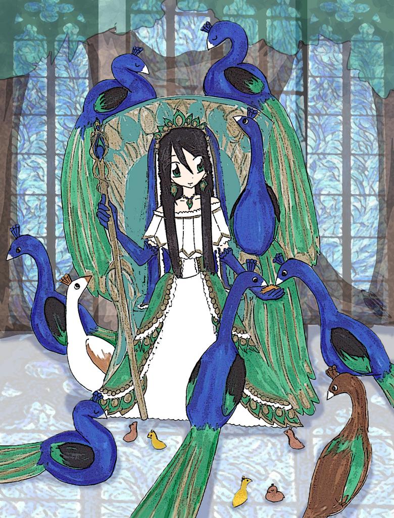 Peacock Princess by MysteriousJewl