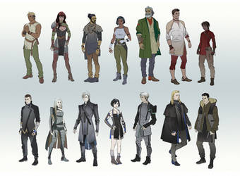 Character Line-up Part 2 by hubbleTea