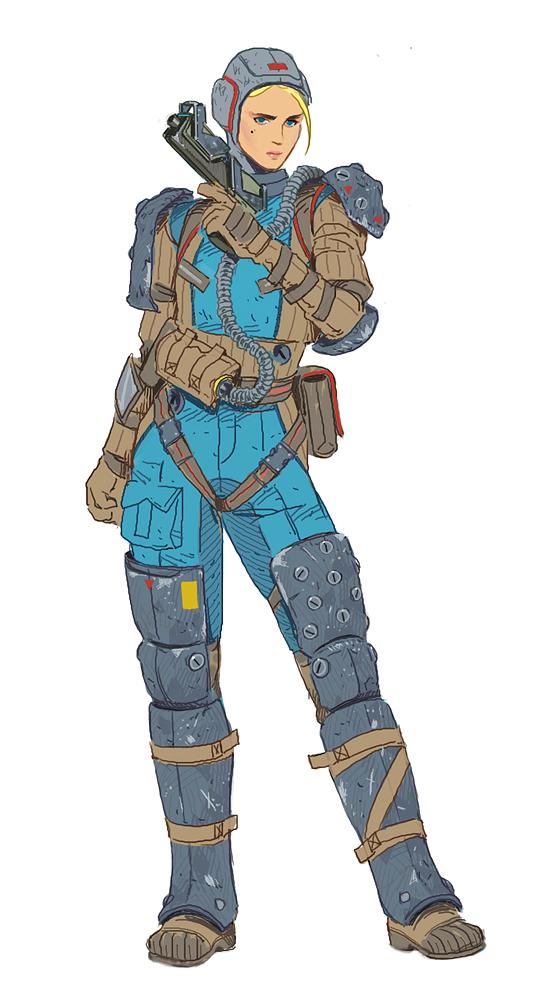 Combat suit | Patient Zero by hubbleTea