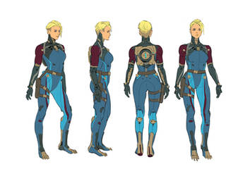 Zero Suit: Character Rotation by hubbleTea