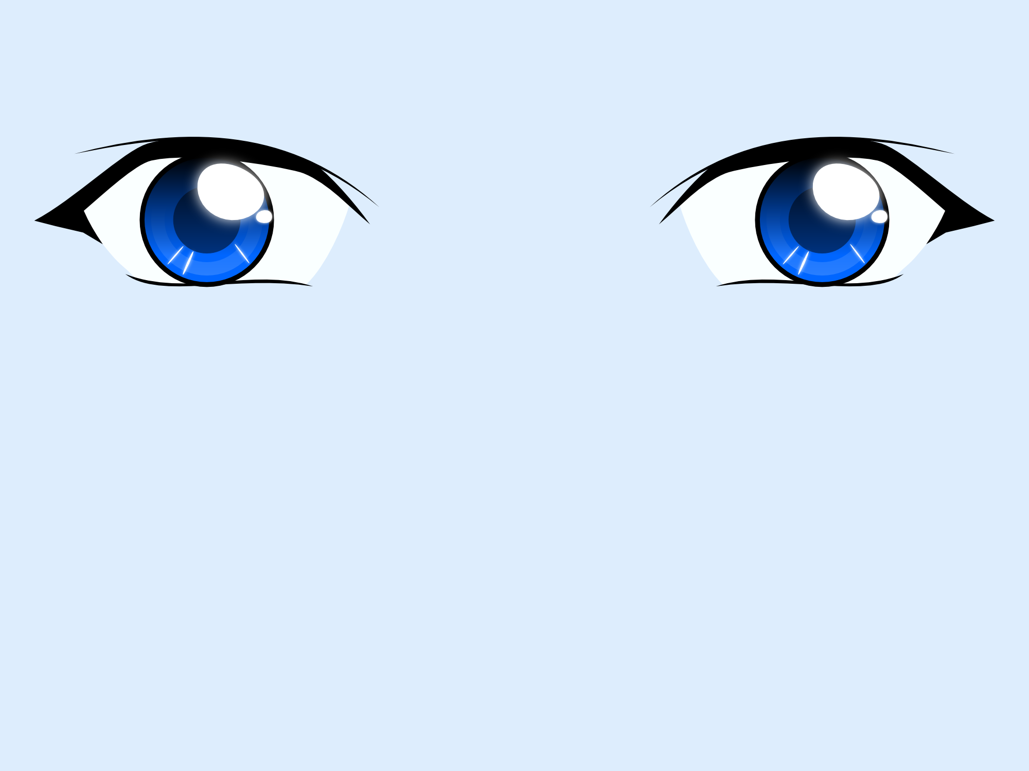 Ojos anime vector by ike2 on DeviantArt