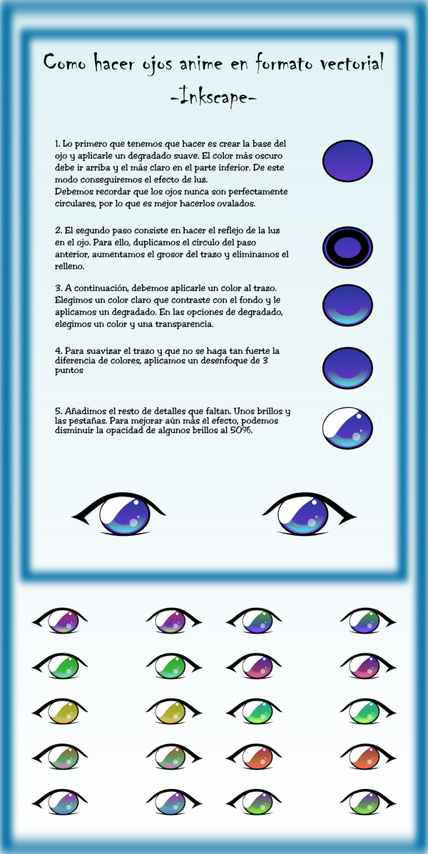 Como hacer ojos anime by ike2