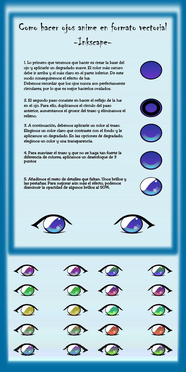 Como hacer ojos anime by ike2