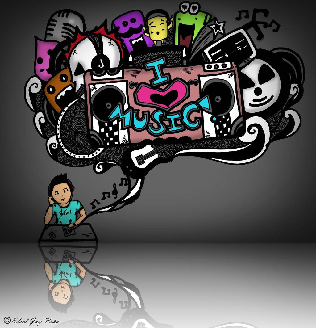 Doodle: I love Music :D by eds21 on DeviantArt