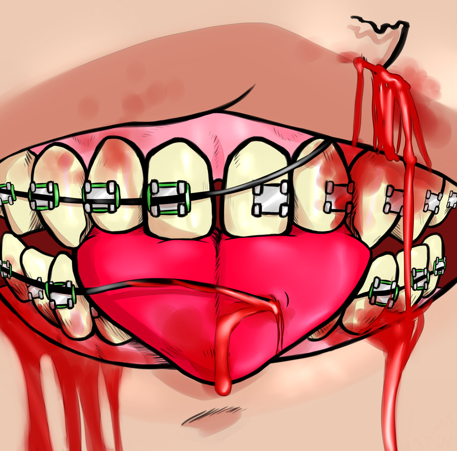 Goretober Day 15 - Tongue/Mouth by Kasiarzyna-QV