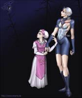 old: Zelda + Impa by Nevina