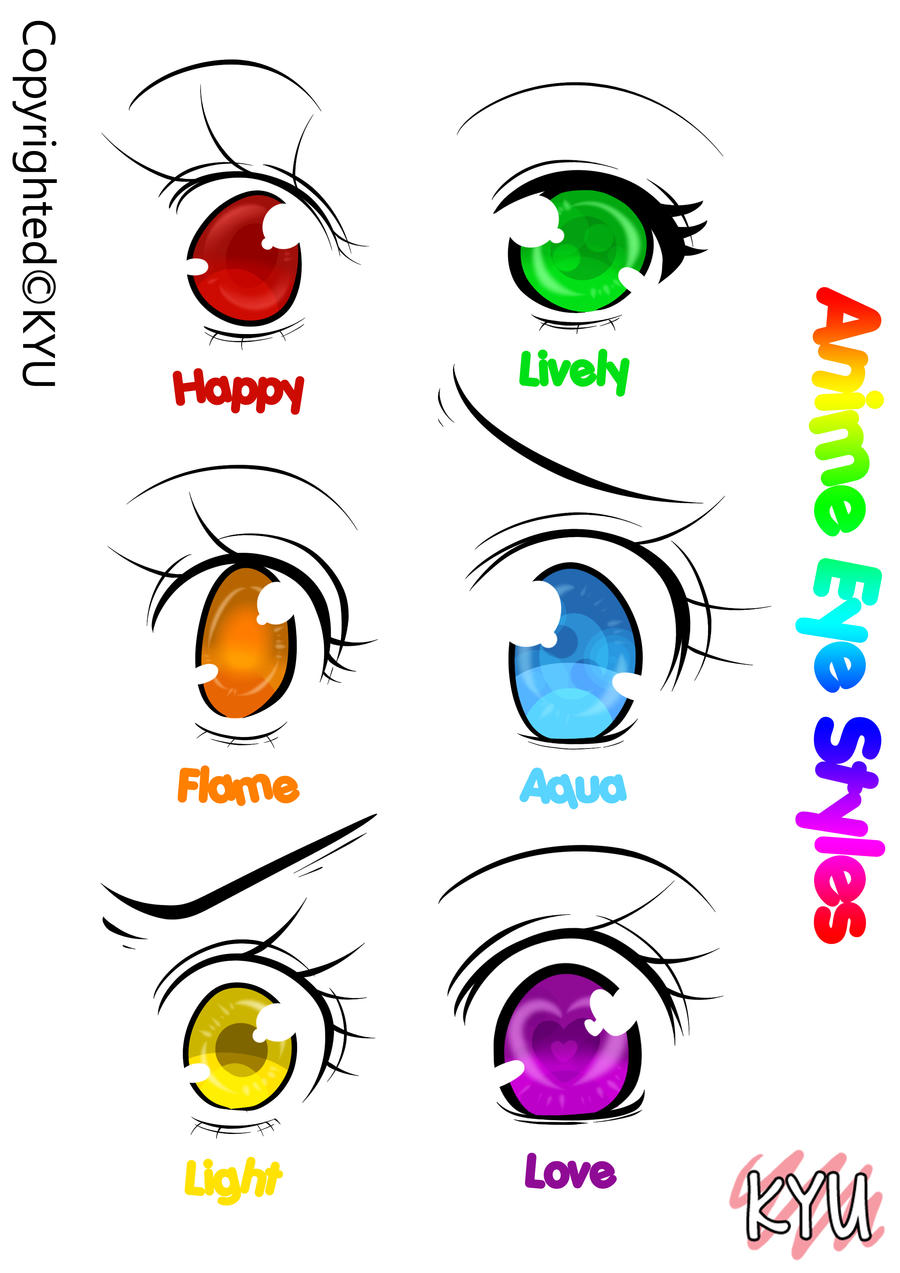 Anime Eye Styles Fantasy Version Kyu By Kyupods On Deviantart