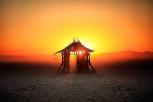 Sunrise on the Deep Playa - Burningman 2012 by bluedogsd