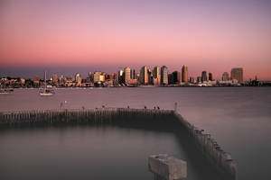 San Diego Winter Sunset Long Exposure by bluedogsd
