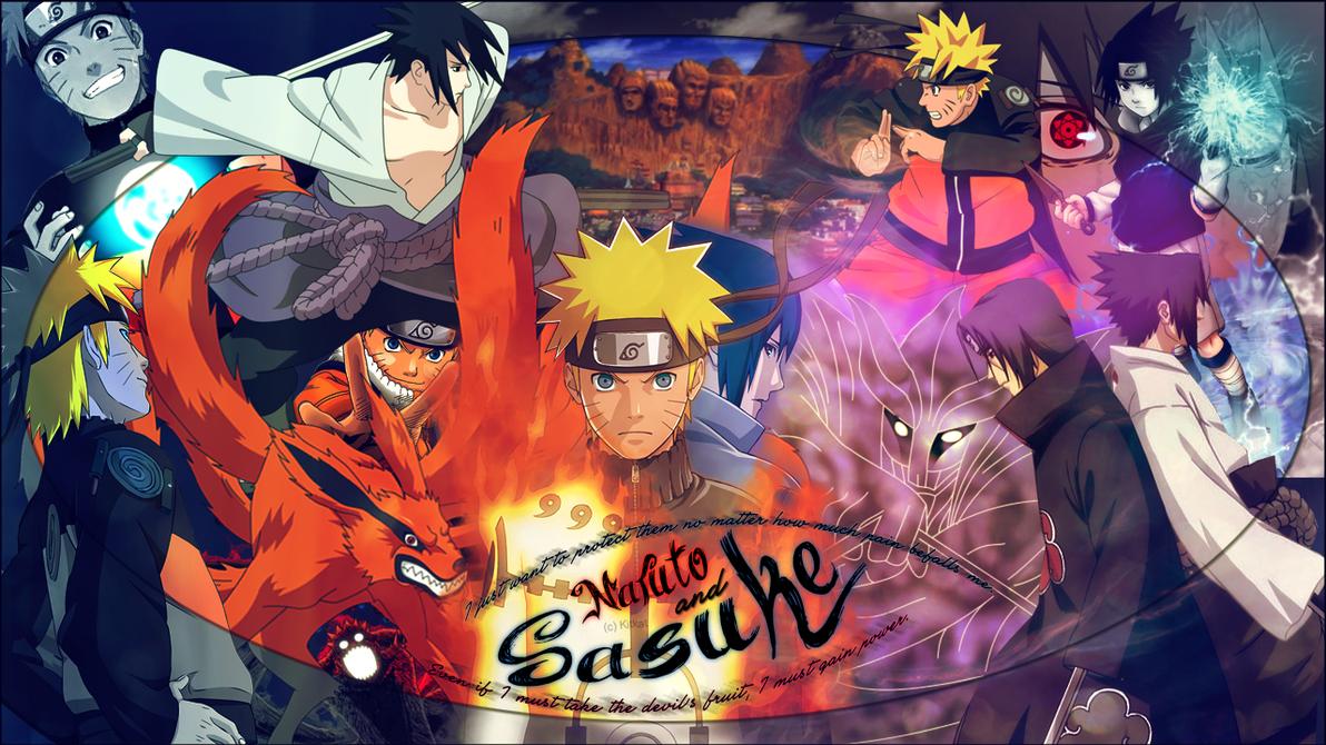 Naruto and Sasuke by KitKat2604