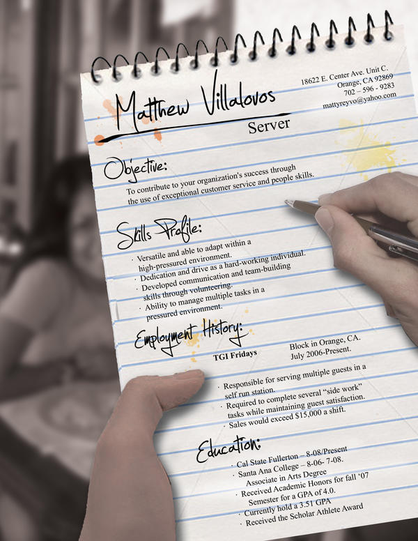 Server Resume by rkaponm