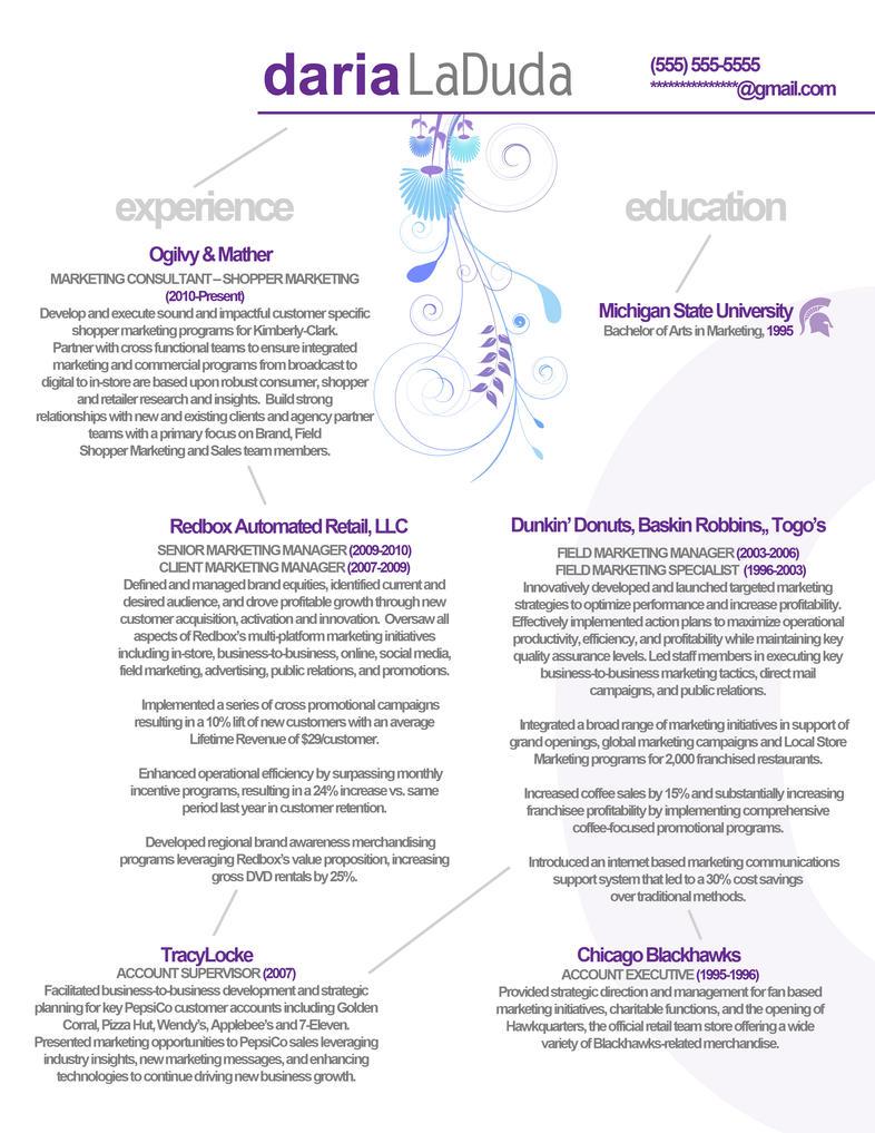 resume marketing front by rkaponm on deviantart