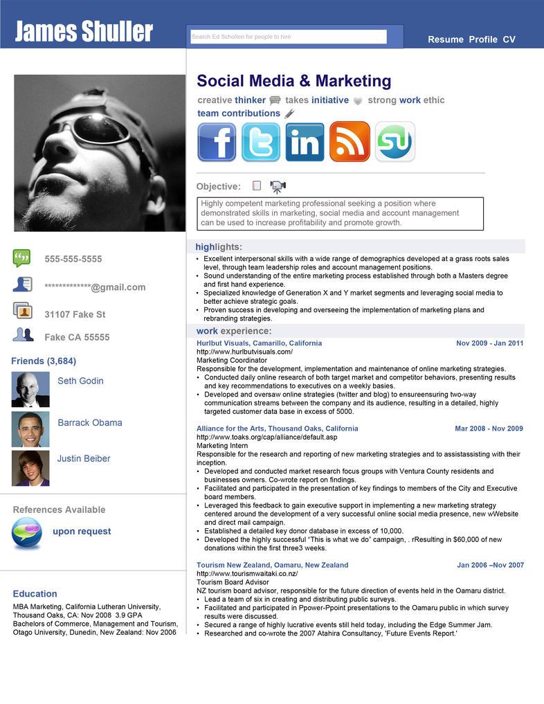 social media marketing resume social media marketing resume 1637
