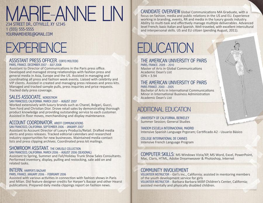 resume fashion designer by rkaponm on deviantart