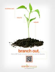 Orange Resume - QR Promotion by rkaponm
