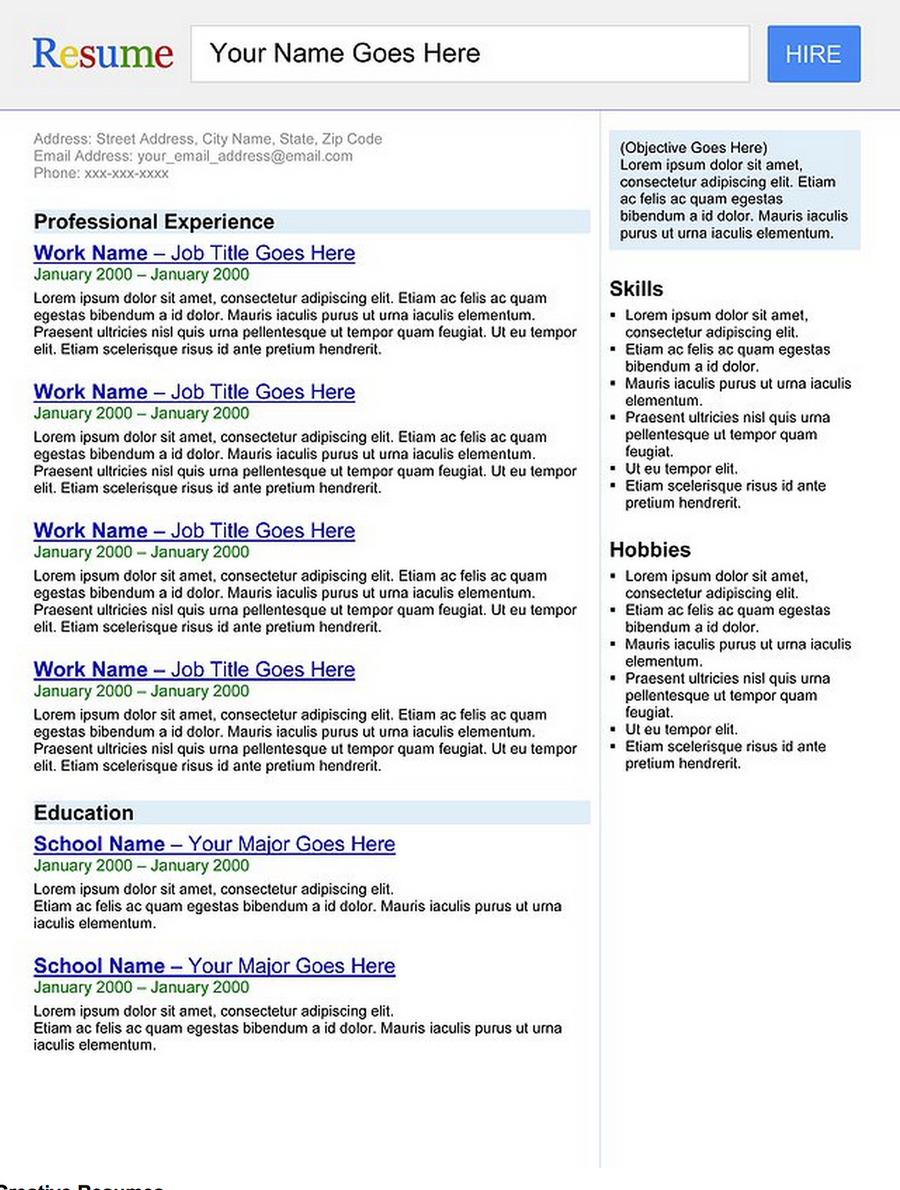 Browse resumes