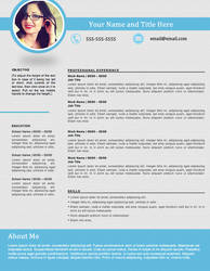 Creative Resume - Shapely Blue by rkaponm