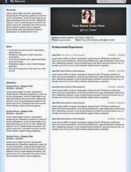 Creative Resume - Micro Blog by rkaponm