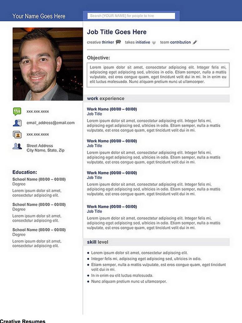 Creative Resume Social Media By Rkaponm On Deviantart