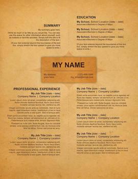 Creative Resume - Old Style