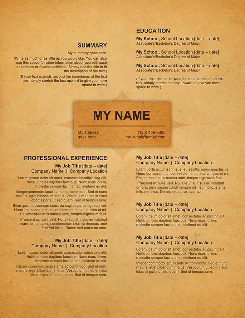 creative resume old style by rkaponm - Old Resume