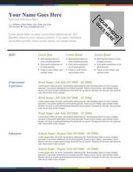 Creative Resume - Splash of Color