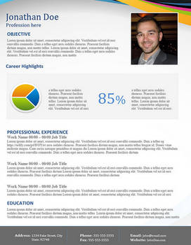 Creative Resume - Modest Swirl