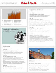 Creative Resume - Pin It by rkaponm