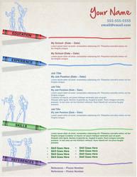 Creative Resume - Crayons by rkaponm