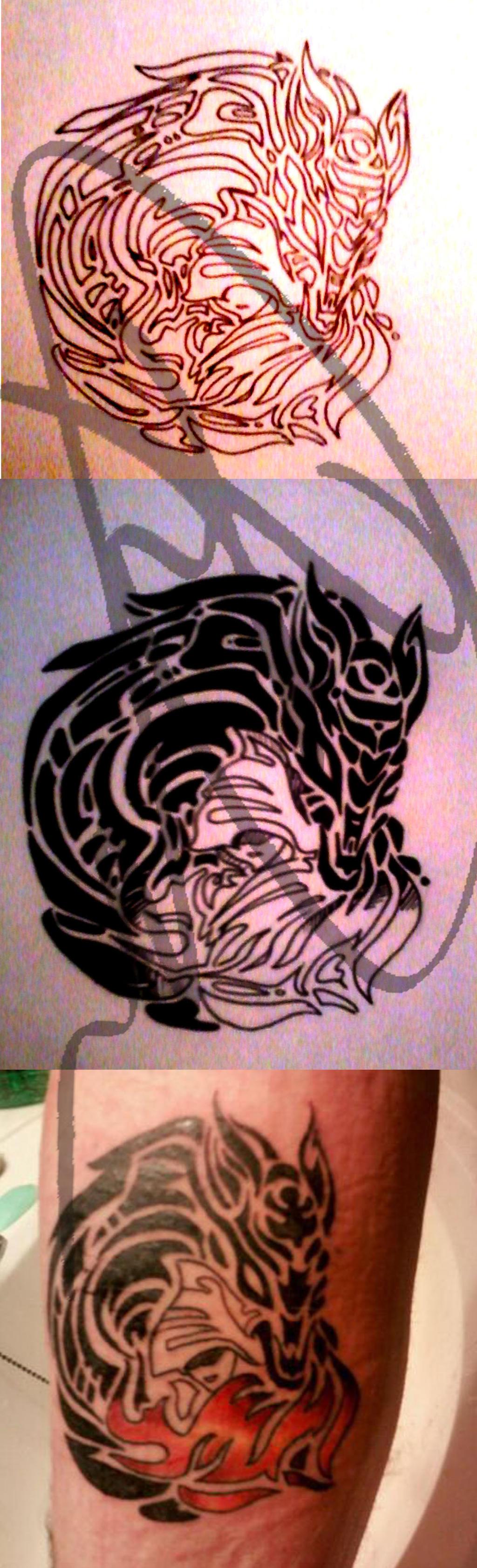 red riding hood tattoo by crescent moon demon on deviantart. Black Bedroom Furniture Sets. Home Design Ideas