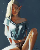 Casual Zelda by toffeecup