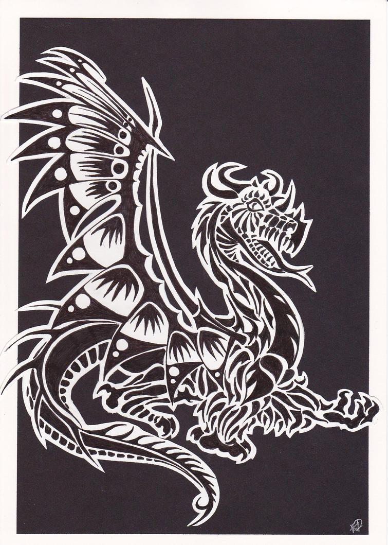 Linoleum Print Designs Dragon Lino Print Desi...