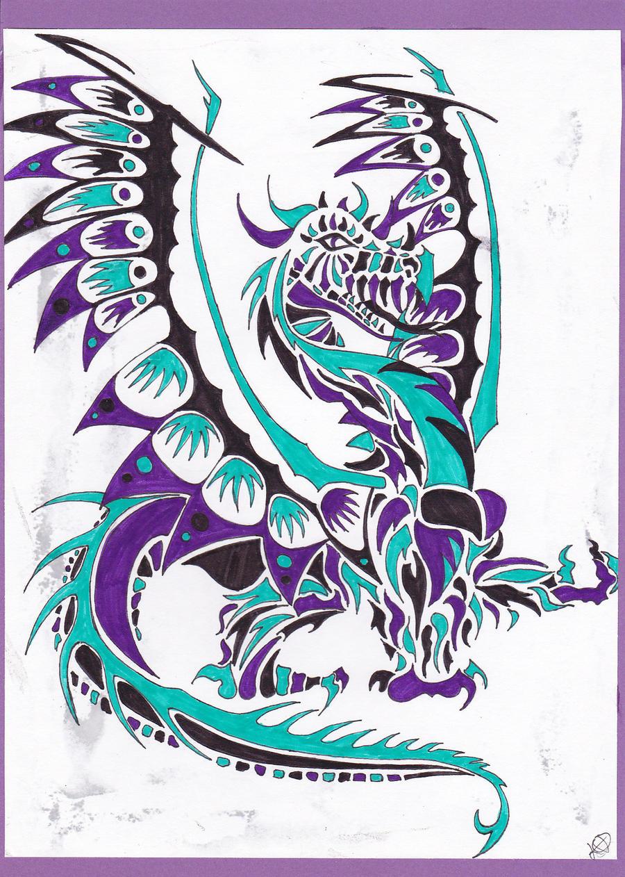 dragon lino print 3 by kawaiimoogle on deviantart
