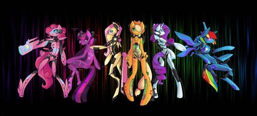 cyber ponies by PlutoPain