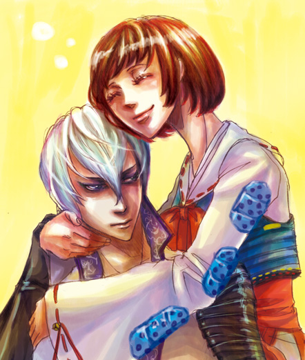Mitsunari and Tsuruhime by 0thefoolnever
