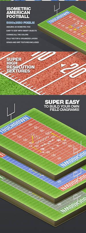 Isometric American Football Illustration