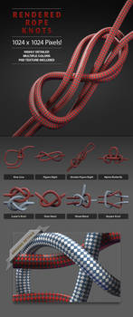 3d Rendered Rope and Knots graphic set