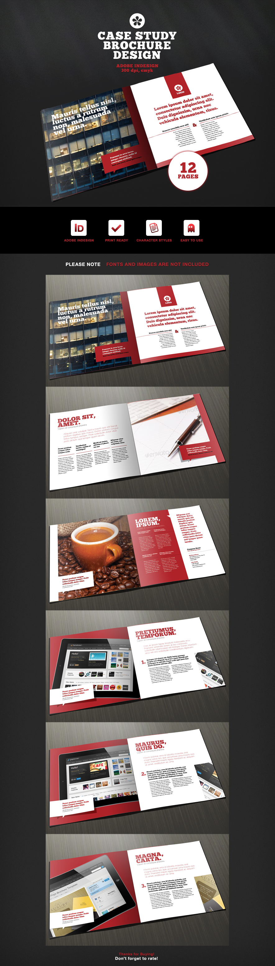 12 page brochure template 12 page case study brochure template by ramijames on