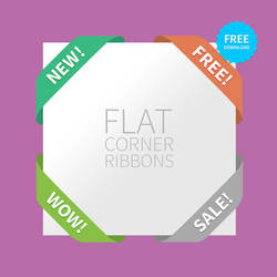 FREEBIE - Flat corner Ribbons for your website!