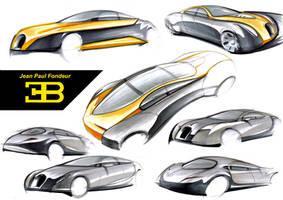 Bugatti Sketches by Karmann