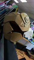 Gokaired Cardboard helmet by quadtrofang