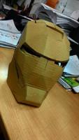 Iron Man Mark IV Cardboard Helmet by quadtrofang