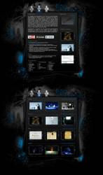 Grunge portfolio website