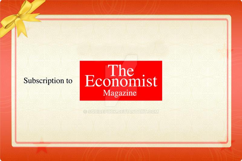 Gift Certificate economist by SquirePuck ...