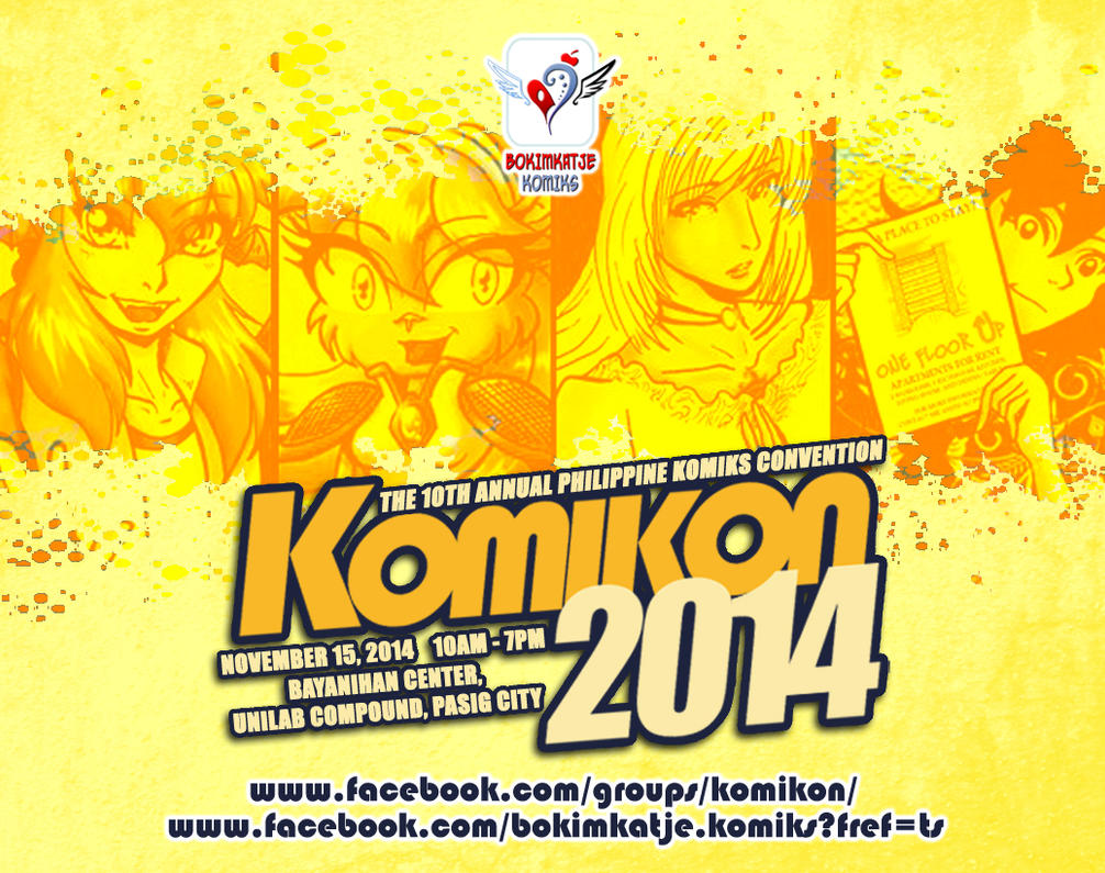KOMIKON POSTER 2014 Poster by lady-storykeeper