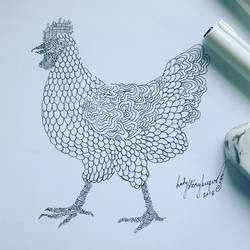 Inktober Day 05 Chicken by lady-storykeeper