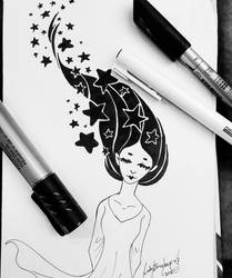 Inktober Day 08 Stars by lady-storykeeper