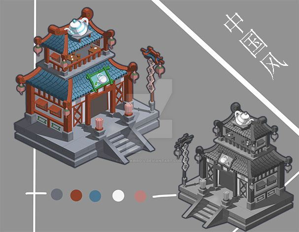 Chinese-style building by Blackbird-L